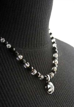 ShopHandmade - Black & White Fusion Necklace  $60.00