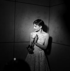 Audrey Hepburn wth her Oscar for Roman Holiday, 1954