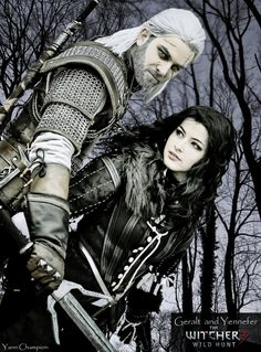 Geralt and Yennefer (Zephon Cos and Azure Cosplay) by AzureBluevision