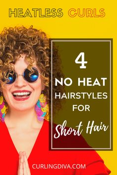 Looking for ways to curl hair without heat or curlers? You'll be glad to know that you can achieve heatless curls for short hair. Want to learn how? Check out this guide! No Heat Curls Overnight, Heatless Curls Overnight, Curls No Heat, No Heat Hairstyles, Baddie Hairstyles, Curled Hairstyles, Short Hairstyle, How To Curl Short Hair, Short Straight Hair