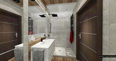 Wielkoformatowe płytki w łazience Kraków - projekt JedyneTakieWnętrza