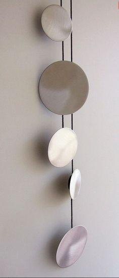 """Pendant """"Silver Cercle"""" by Estela Guitart."""