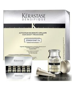 Kerastase Densifique Program is a daily at home treatment applied directly to the scalp and massaged through the lengths of the hair. It is designed to significantly improve hair mass and density...