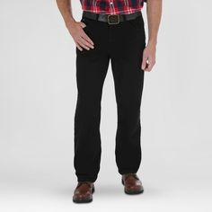 Wrangler 5-Star Relaxed Fit Jeans - Black Wash 46x32