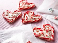 Peppermint-Bark Hearts