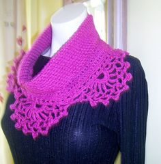Crocheted  Lacy Collar Scarf by PinkPicot on Etsy, £10.00.....wrong colour but she takes orders