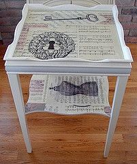 Decoupage Cottage Table by Pink Pig Westport, via Flickr