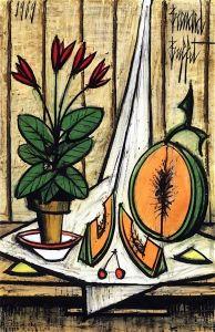 Pot of Cyclamens and Melon - Bernard Buffet - The Athenaeum