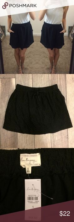 NWT Lou & Grey Lace Skater Skirt New with tags - would make a great present! Perfect skirt for fall. Brand is Lou & Grey by LOFT. Paired with a sweater and some booties, this skirt can work all season long! Lou & Grey Skirts Mini