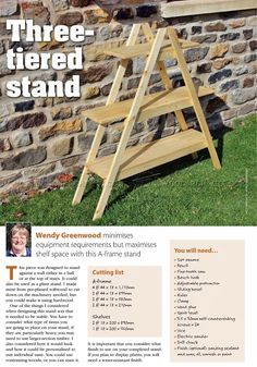 #2248 Outdoor Plant Stand Plans - Outdoor Plans