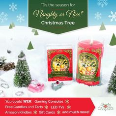 Wow look what is now available in my store for reservation....That's right it's the Naughty or Nice Prize Candles and Tarts Be sure to check out the awesome jewelry choice in the tarts! So have you been Naughty or Nice this year? www.jicwjendennis.com #christmas #nauthtyornice #prizecandle #jewelry