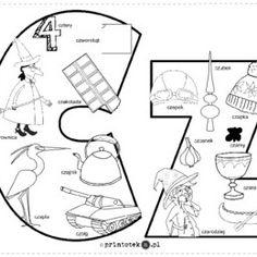 Logopedyczne gry, ćwiczenia z języka, karty do wydrukowania. - Printoteka.pl Polish Language, Toddler Activities, Origami, Diagram, Classroom, Education, Logos, Speech Language Therapy, Polish