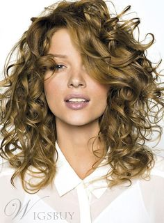 Dirty Blonde Hair Color Ideas - Dirty blonde hair color offers a sophisticated natural look and is easier to wear than most light blonde shades. Find the best dirty blonde hair color for your and learn how to apply the dirty blonde hair dye correctly. Blonde Curly Hair, Curly Hair With Bangs, Short Curly Hair, Curly Hair Styles, Curly Bob Hairstyles, Pretty Hairstyles, 1980s Hairstyles, Funky Hairstyles For Long Hair, Ethnic Hairstyles