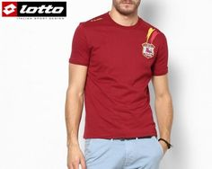 Lotto is world famous for making stylish and affordable sportswear. This Lotto t-shirt in its striking maroon colour is perfect for all casual occasions.  It's sporty look, combined with a cool cotton material that keeps the body at the right temperature all day is great for summer and winter. Whether you wear this to a lunch or around the track for a walk, you can rest assured you'll feel good and look great.