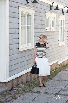 Classy Preppy Zara skirt Summer Stripes