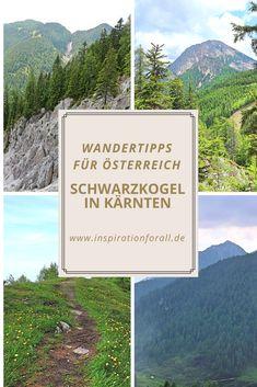 Eine atemberaubende Aussicht bietet der Wanderweg auf den Schwarzkogel in Kärnten. Wandertipps für einen Urlaub in Österreich gibt es auf inspirationforall.de. Heart Of Europe, Hiking, Mountains, Nature, Travel, Europe, Ski Trips, Hiking Trails, Naturaleza