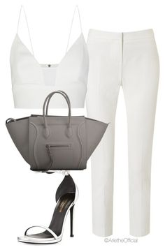 A fashion look from August 2015 featuring silk shirt, John Lewis and leather shoes. Browse and shop related looks. Dressy Outfits, Stylish Outfits, Cute Outfits, Fashion Outfits, Womens Fashion, Fashion Trends, Complete Outfits, Polyvore Outfits, Polyvore Fashion