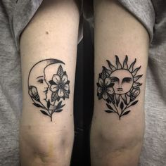 What does a tattoo of sun and moon symbolize?