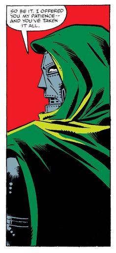 Doctor Doom in Marvel Comics Art, Marvel Comic Books, Fantastic Four Villains, Vintage Pop Art, Marvel Entertainment, Comic Panels, Silver Surfer, Vintage Comics, Comic Art