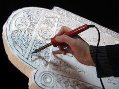 DIY tutorial - Halloween styrofoam headstones -