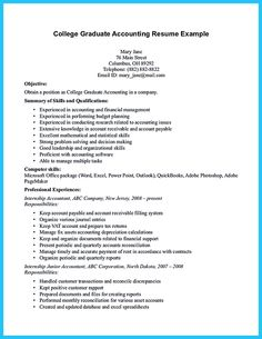 accounting student resume here presents how the resume of accounting student clearly made the accounting - Objective For Accounting Resume