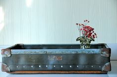 Tray Industrial Metal Box Fiberglass Box Vintage by PageScrappers, $54.00