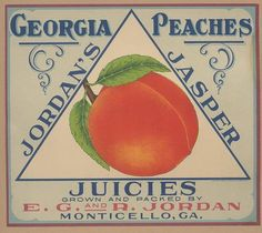 Vintage Labels, Vintage Ads, Vintage Signs, Vintage Prints, Vegetable Crates, Peach Fruit, Just Peachy, Down South, Printing Labels