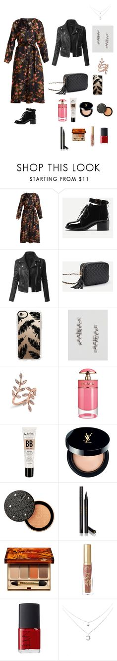 """😍😍"" by aydash-blogg ❤ liked on Polyvore featuring Isabel Marant, LE3NO, Casetify, Anne Sisteron, Prada, NYX, Yves Saint Laurent, Guerlain, Gucci and Clarins"