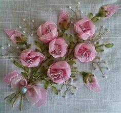 Ribbon design roses