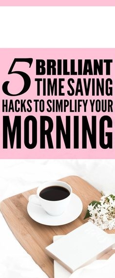 These 5 Time Saving Hacks for the morning are THE BEST! I'm so happy I found these AMAZING tips! Now I have a great way to get ready and save a ton of time in the morning when I'm getting ready for work! Definitely pinning!