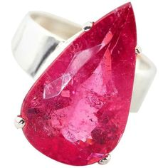 Preowned Pink Glittering Tourmaline Sterling Silver Ring ($4,960) ❤ liked on Polyvore featuring jewelry, rings, pink, preowned rings, enhancer ring, glitter jewelry, tourmaline ring and pink jewelry