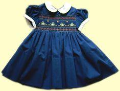 como bordar paso a paso vestidos de niña en punto rococo | MundoRecetas.com - Recetas de cocina y Thermomix