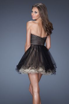 See this LaFemme prom dress and other short  prom dresses at Bridal & formal by RJS, Nashville, TN 15-522-0201
