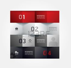 Modern Design Minimal style infographic template / can be used for infographics / numbered banners / horizontal cutout lines / graphic or website layout vector Stock Vector
