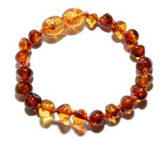 Genuine Baltic Amber Baby Teething Bracelet/Anklet by BLTAmber