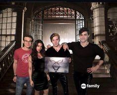 Shadowhunters tv show Abc family. Simon Izzy Jace y Alec