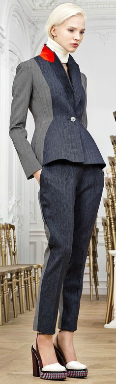 Christian Dior Pre-Fall 2014. Glorya; great on trend suit that shows the men that you can be one of the Fe-males.