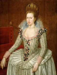Anne of Denmark, Wife of James I of England & VI of Scotland, by Paul van Somer