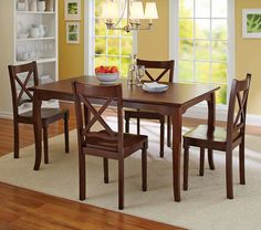 Better Homes and Gardens Bankston 5 Piece Dining Set in Mocha