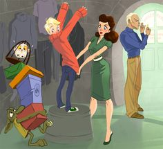 Draco and Astoria Malfoy take little Scorpius shopping! Did this a while back as a commission. I snappy dressers. Harry Potter Sempre, Fanart Harry Potter, Harry Potter Drawings, Harry Potter Books, Harry Potter Universal, Harry Potter Fandom, Harry Potter World, Harry Potter Memes, Scorpius And Rose