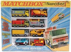 A price / valuation and model variation guide for the Superfast range of die cast toys by Lesney Matchbox. Custom Hot Wheels, Corgi Toys, Matchbox Cars, Trucks, Jeep Truck, Small Cars, Cool Cartoons, Old Toys, Scale Models