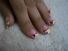 Marbled Tip Nails