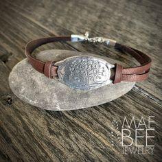 Boho Jewelry, Unique Jewelry, Jewellery, Tree Of Life Bracelet, Deer Skin, Hand Shapes, Weekend Wear, Oxidized Sterling Silver, Anklets