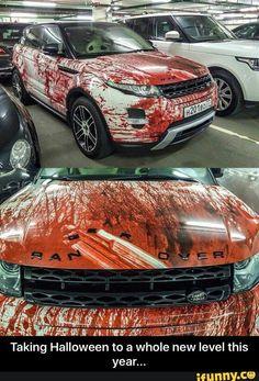 Bil-stylingtips til Halloween Car Memes, Car Humor, Funny Memes, Carros Suv, Carros Lamborghini, Car Paint Jobs, Car Painting, Car Wrap, Amazing Cars