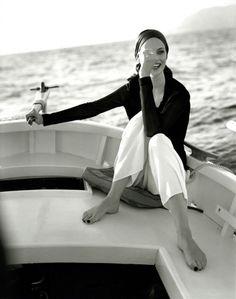 Marie Claire Bis Spring/Summer 1995  Villegiature  Photographer: André Carrara  Model: Phoebe O'Brien