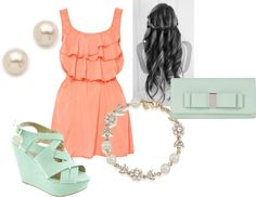 """""""Simple grad party outfit"""" by ldinino6 on Polyvore"""