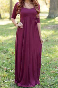 Mommy to Be Maternity Photo Prop Floor Length Maxi Dress / Gown Closed Front Maroon / Eggplant Pregnancy Portrait Women's Baby Shower Dresses Maternity Clothes Clothing Womens White Maxi Dresses, Maxi Dress With Sleeves, Modest Dresses, The Dress, Red Maxi, Long Casual Dresses, Dress Long, Burgundy Maxi Dress, Purple Maxi