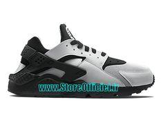 a06db307da04c Nike Basket Huarache GS Pas Cher Chaussure Pour Femme Argent Bleu Noir  Chaussure Nike