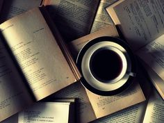 Coffee and Books-- My surrounding spaces frequently look like this.