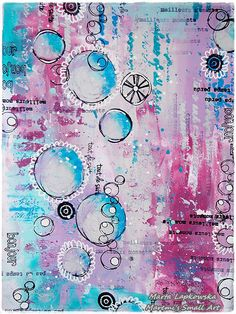 PaperArtsy: 2015 #21 Abstract Journalling {by Marta Lapkowska}